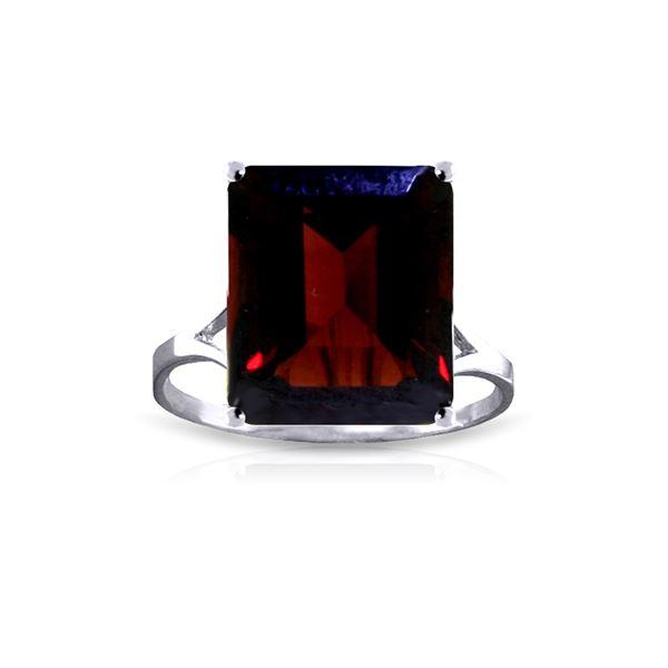 Genuine 7 ctw Garnet Ring 14KT White Gold - REF-50P2H