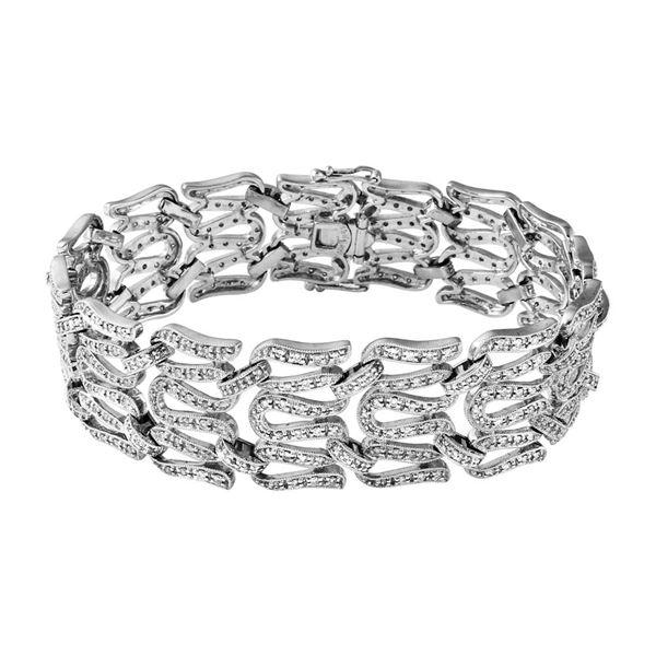 Natural 2.50 CTW Diamond Bracelet 18K White Gold - REF-544K5R