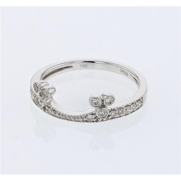 Natural 0.23 CTW Diamond Ring 14K White Gold - REF-33W3H