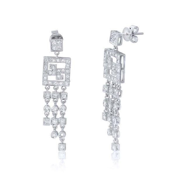 Natural 0.91 CTW Diamond Earrings 14K White Gold - REF-99K2R