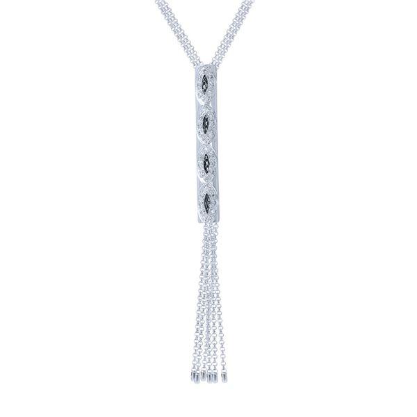 Natural 0.27 CTW Diamond Necklace 14K White Gold - REF-75F6M