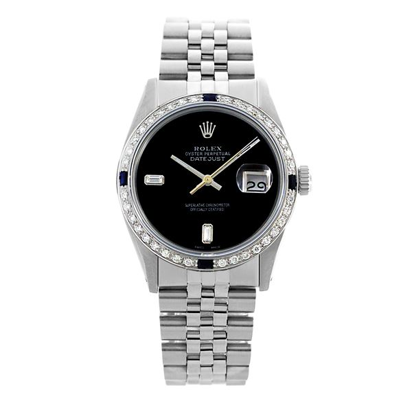 Rolex Pre-owned 36mm Mens Black Dial Stainless Steel