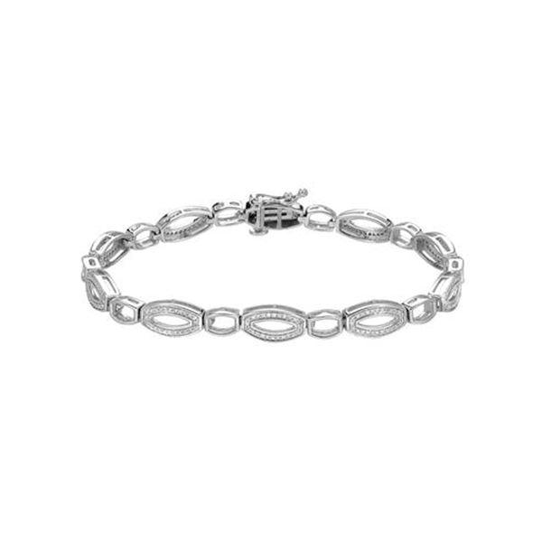 Natural 0.46 CTW Diamond Bracelet DIAMOND 14K Gold - REF-127N8Y