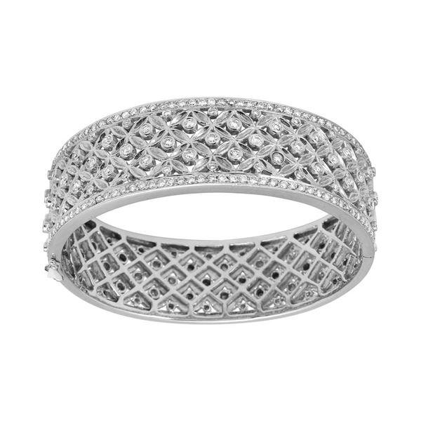 Natural 2.66 CTW Diamond & Bracelet 14K White Gold - REF-554N4Y