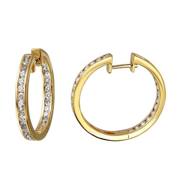 Natural 2.28 CTW Diamond Earrings 14K Yellow Gold - REF-277W2H