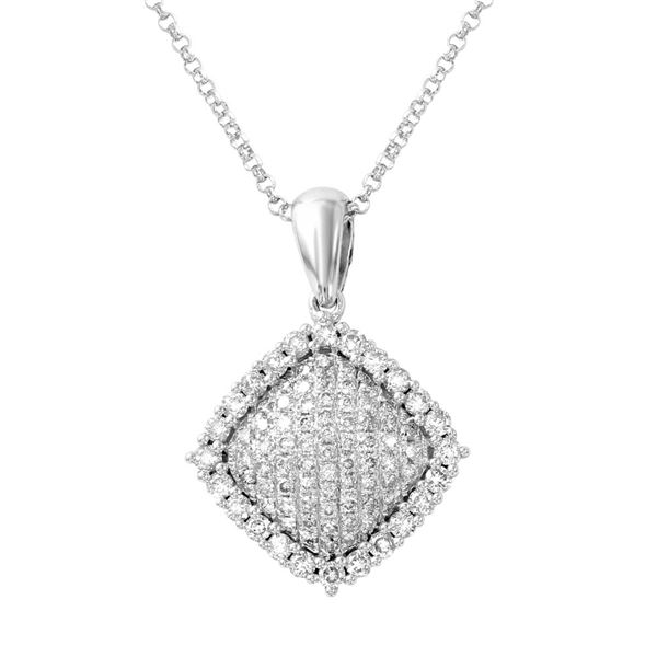 Natural 0.68 CTW Diamond Necklace 14K White Gold - REF-66W6H