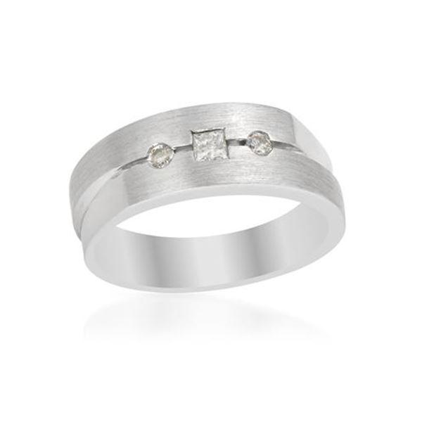Natural 0.26 CTW Princess Diamond Ring 14K White Gold - REF-98W3H