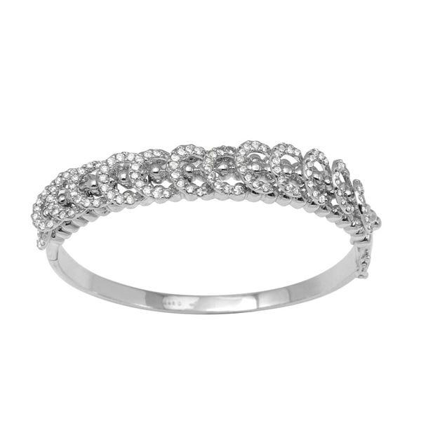 Natural 2.24 CTW Diamond Bracelet 14K White Gold - REF-313F2M