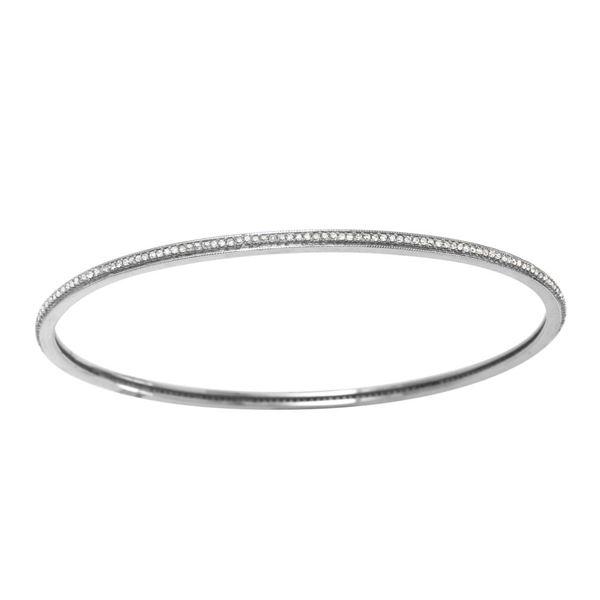 Natural 0.64 CTW Diamond Bracelet 14K White Gold - REF-96T3X
