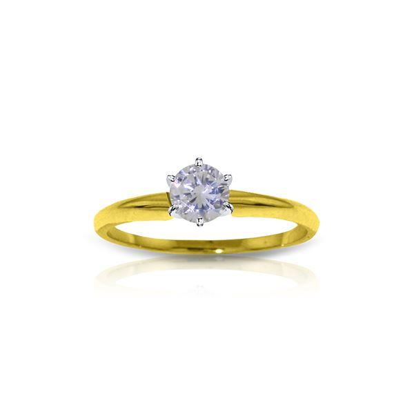 Genuine 0.25 ctw Diamond Anniversary Ring 14KT Yellow Gold - REF-55X3M
