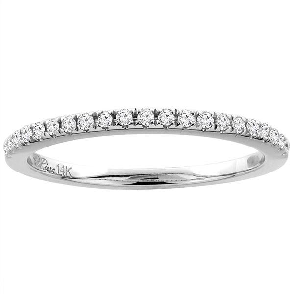 0.15 CTW Diamond Ring 14K White Gold - REF-33F5N