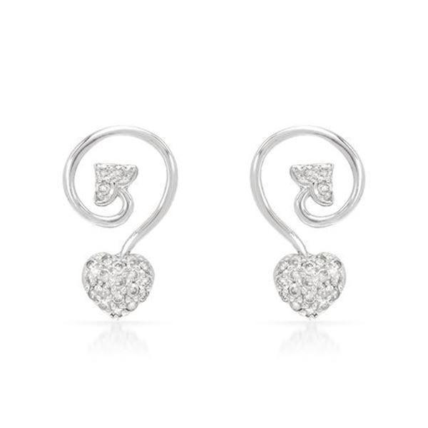 Natural 0.45 CTW Diamond Earrings 14K White Gold - REF-54N9Y