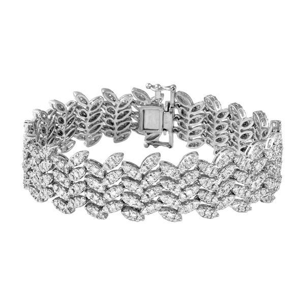 Natural 5.2 CTW Diamond & Bracelet 18K White Gold - REF-767T7X