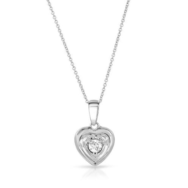 Natural 0.25 CTW Diamond Necklace 14K White Gold - REF-63N2Y