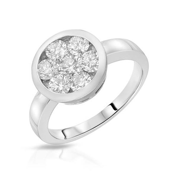 Natural 0.25 CTW Diamond Ring 14K White Gold - REF-42F3M