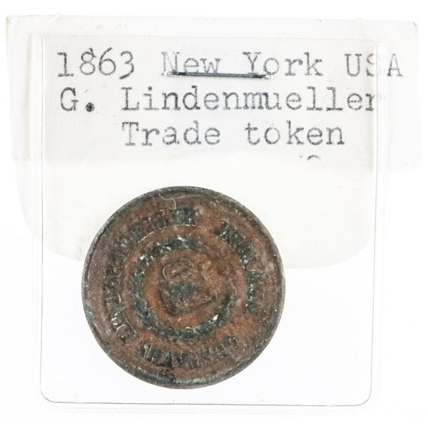 1863 New York USA Trade Token