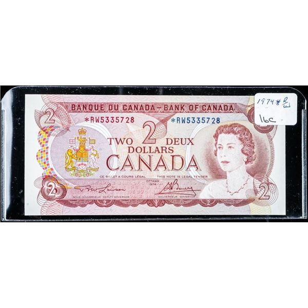 Bank of Canada 1974 2.00 *Replacement (R/W)  UNC