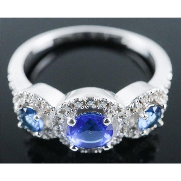 Fashion Ring - 3 Oval Swarovski Elements Size  5