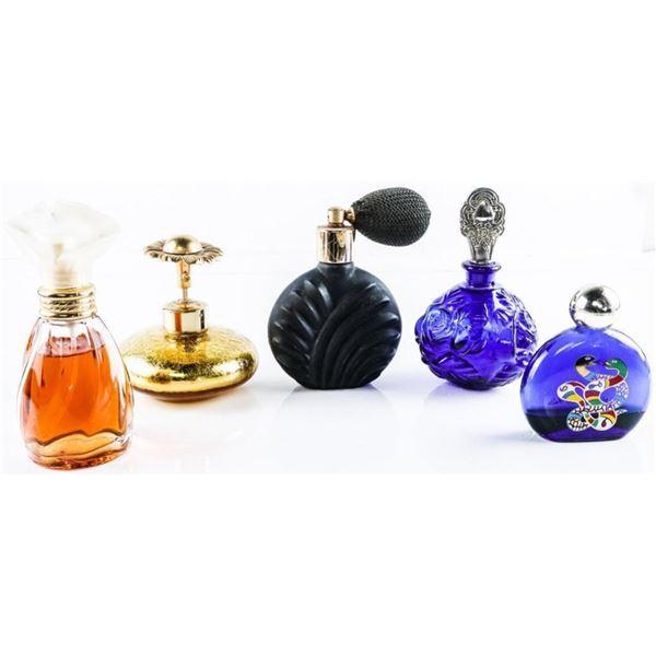 Lot (5) Collectible Perfume Atomiser Bottles