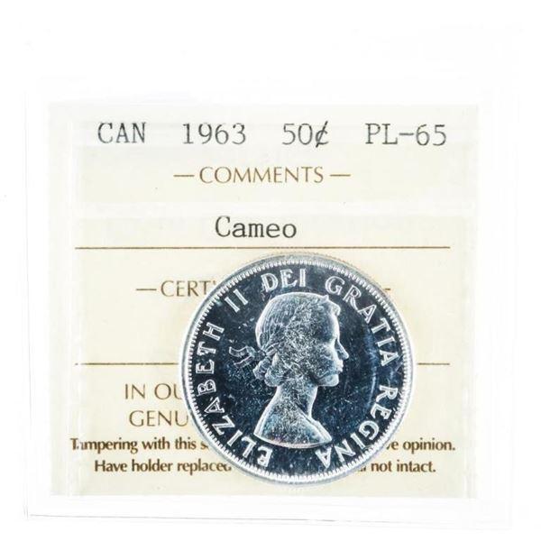 1963 Canada 50 Cent PL65 ICCS Cameo