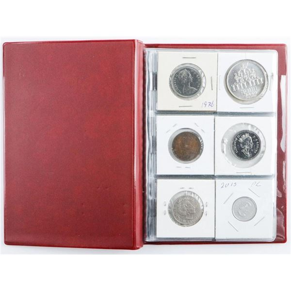 Collector Starter Coin Book, 18 Coins  Includes Silver