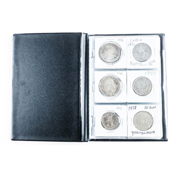 Coin Stock Book with (24) World Coins