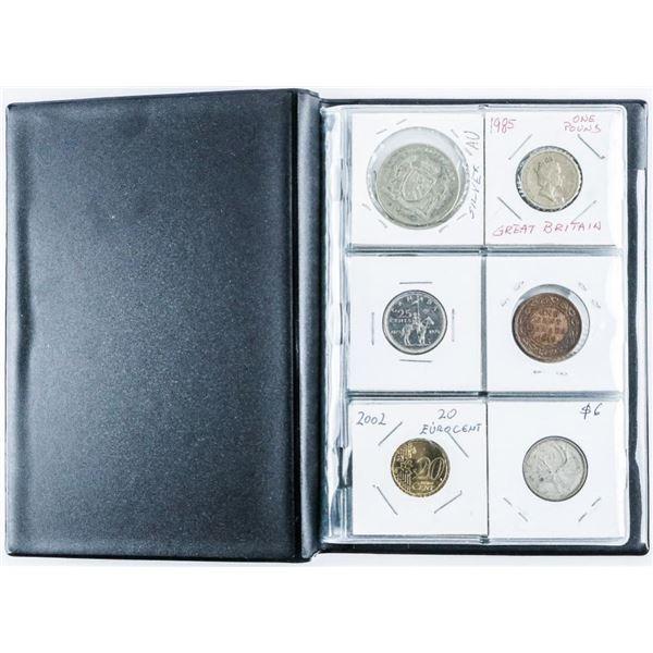 Coin Stock Book (24) Coins, Includes Silver