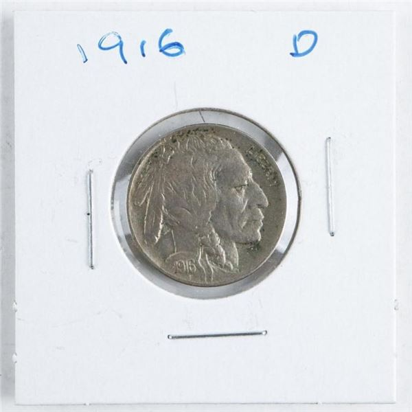 1916D US Indian/Buffalo 5 Cents