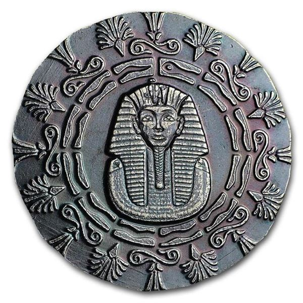 Egyptian Collector Bullion Round 'KING TUT'  .999 Fine Silver