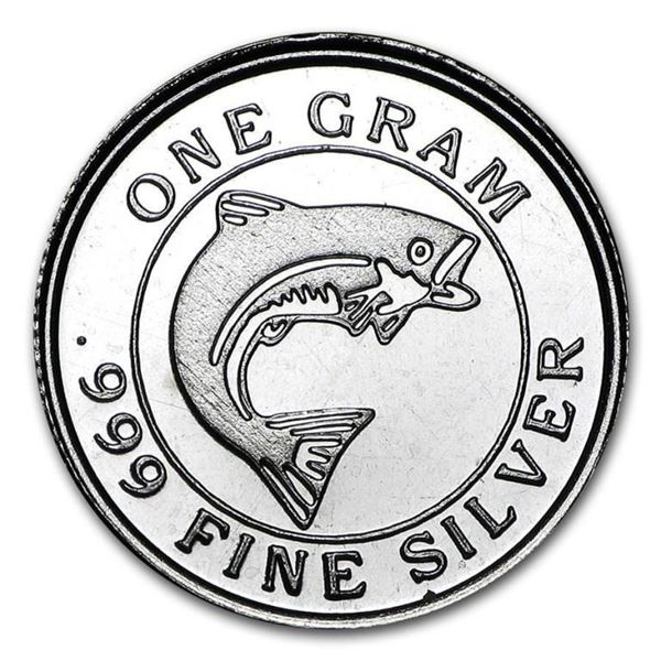 Collectible Silver bullion Round .999 Fine  Silver SALMON COIN