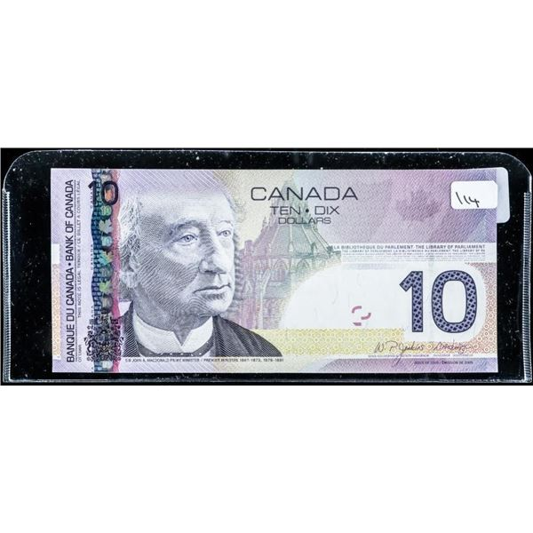 Bank of CANADA 2005 GEM UNC 10.00 (.9-.990)  (BEV) BC68aA