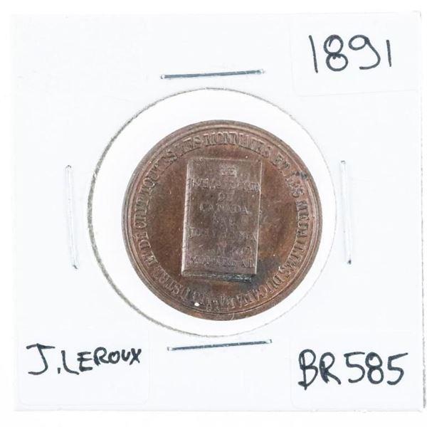 (602) J. Leroux 1891 BR 585 High Grade Scarce