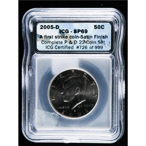 2005D - JFK 50c, ICG SP69. First Strike.