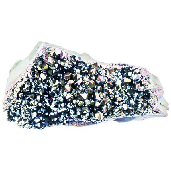Titanium Rainbow - Amethyst Rock Cluster