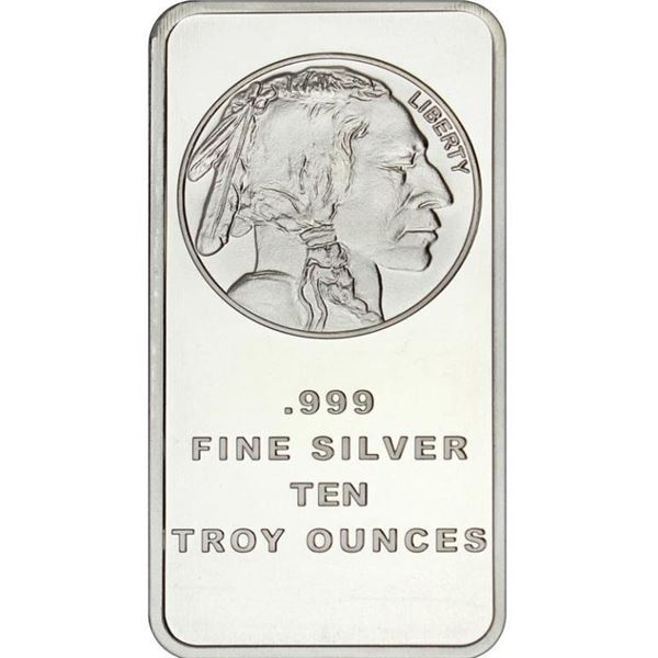 Collector Bullion Bar - Indian Head/Buffalo  Ten Troy Ounces