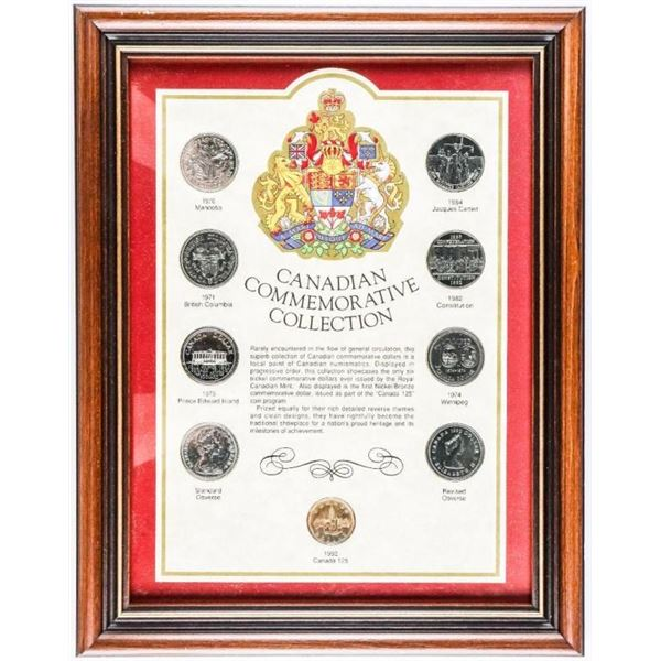 CANADIAN Commemorative Collection $9.00 Coins  Framed 11x14""