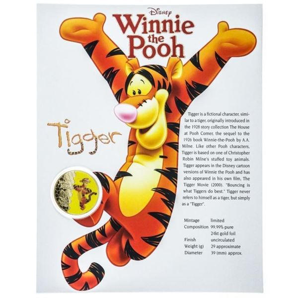 Winnie the Pooh - Collectible Medallion with  8x10 Giclee Art Card
