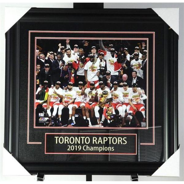 "Toronto Raptors Champions 2019 Collector  Frame 30x31"""