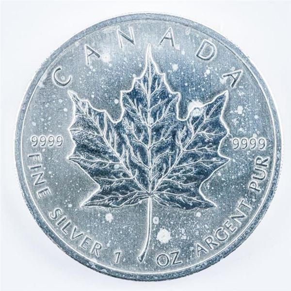 RCM Maple Leaf $5.00 Coin 2011 .999 Fine  Silver 1oz ASW