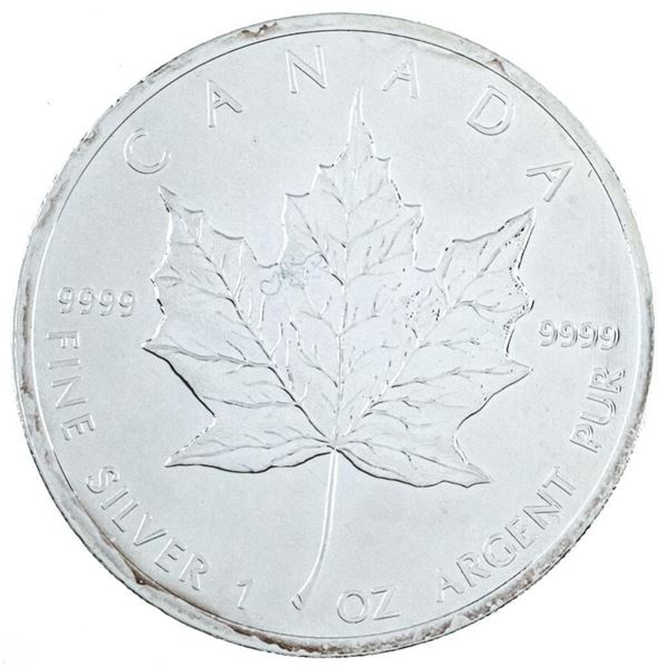RCM Maple Leaf $5.00 Coin 2010 .999 Fine  Silver 1oz ASW