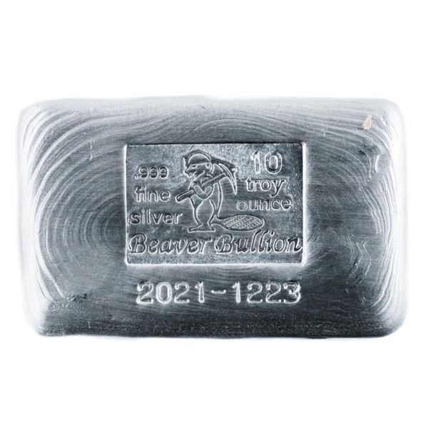 Canada's Beaver Brick .999 Fine Pure Silver  10oz.
