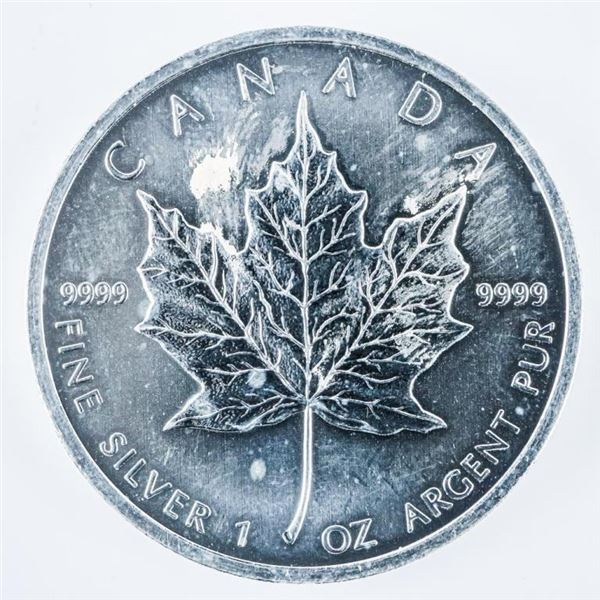 RCM Maple Leaf $5.00 Coin 2012 .999 Fine  Silver 1oz ASW