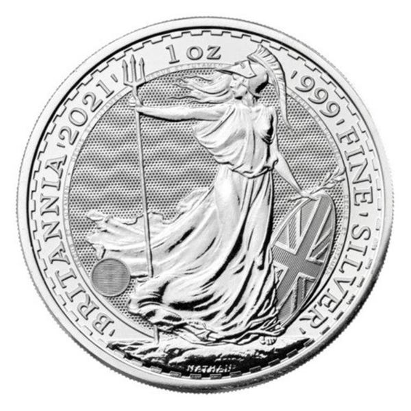 2021 Britannia 2 Pounds .999 Fine Silver 1oz  ASW
