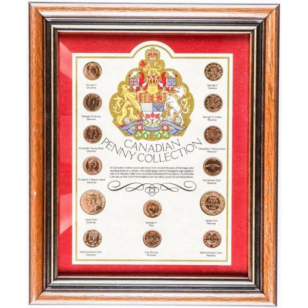 CANADIAN Penny Collection 8x11 Framed