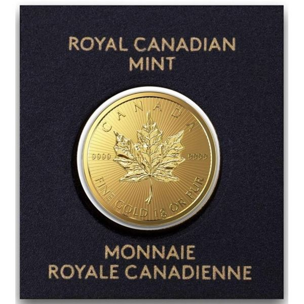 RCM 24kt Fine Gold 50c Canadian Maple Leaf.  Very Collectible. (Tax Exempt).