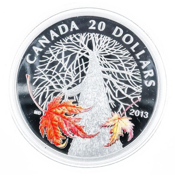 RCM 2013 Canadian Maple Canopy 'Autumn' .999  Fine Silver $20.00 LE/C.O.A.