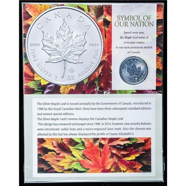 RCM Collector Bullion .999 Fine Silver Maple  Leaf Coin 2020 - 1oz ASW with Art Card