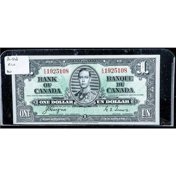 Bank of Canada 1937 1.00 (E'N) AU C-T