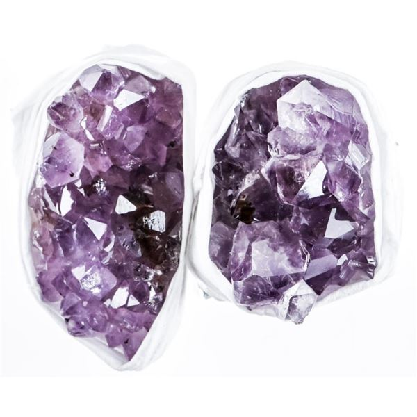 Lot (2) Natural Amethyst Crystal Clusters