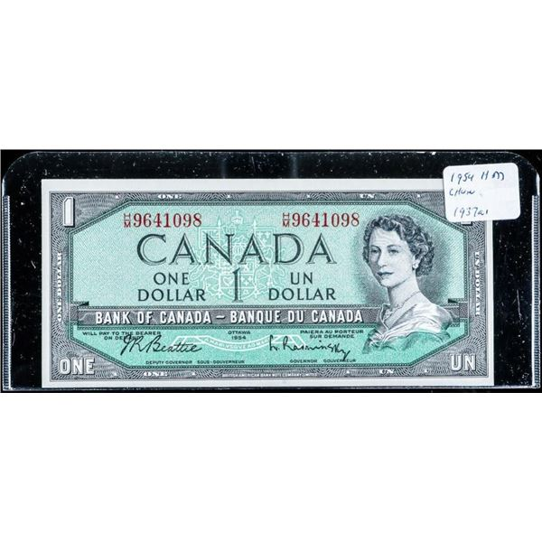 Bank of Canada 1954 1.00 Choice UNC (H/M) B/R